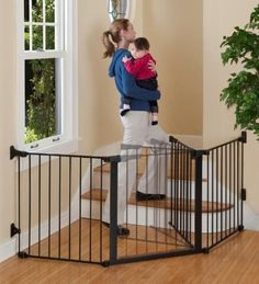 """$109.95-$119.99 Baby A unique safety gate solution for the odd-shaped space, irregular area, or a wide opening that does not have mounting points straight across. The new KidCo Auto Close ConfigureGate Model G3000 (formerly G80) is the only """"build your own"""" baby gate system. Comes with three 31"""" high interlocking sections in a total width of 84"""". All joints easily rotate and lock, or set in a st ..."""