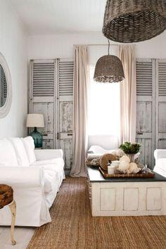 living room curtain beach