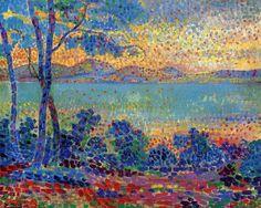 Provence Landscape - Henri Edmond Cross Pointillism 1900