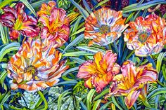 """Orange Poppies and Lilies"" by Patricia Tobacco Forester"