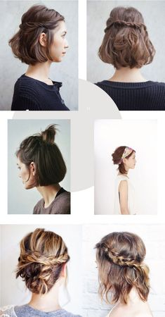 Easy Hairstyles To Mix It Up – - Coiffure Sites Summer Hairstyles, Pretty Hairstyles, Easy Hairstyles, Short Hair Updo, Curly Hair Styles, Natural Hair Styles, Blonde Haircuts, Hair Today, Prom Hair