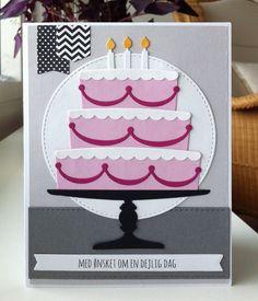 Card cake hearts heart MFT Bring on the Cake Die-namics MFT-502 #mftstamps Happy Birthday Have a Delicious Day MFT Blueprints 31 & 12 Die-namics elements - kort kage lagkage fødselsdag hjerteligt tilllykke - JKE