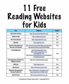 11 Free Reading Websites for Kids Reading Websites For Kids, Educational Websites For Kids, Free Learning Websites, Educational Crafts, Fun Learning, Learning Activities, Teaching Kids, Kids Education, Homeschooling