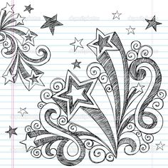 Starburst Notebook Doodles