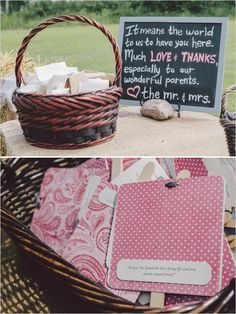 rustic wedding sign and programs