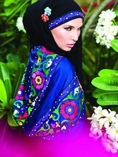colored hijab