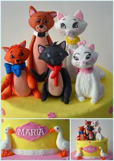 Marie the aristocats birthday cake theme