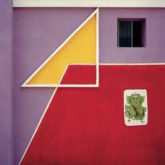 Les maisons colorées de Tirunamavalai en Inde © Vincent Leroux