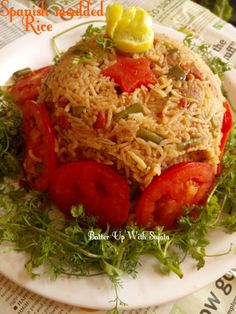 Spanish moulded rice. One pot and comfort meal. You don't need much time to cook this delicious rice dish. No fuss, easy and quick to make. You need only some vegetables and spices with rice …