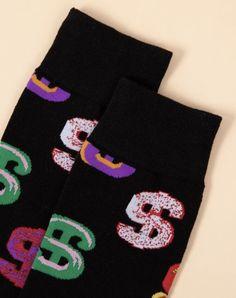 'Money Mama' Crew Socks – Pretty Feet Trinkets Bootie Socks, Sock Ankle Boots, Dollar Sign, Tube Socks, Cute Boots, Designer Socks, Fashion Socks, Sign Printing, Comfortable Fashion