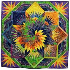 spiral lone star quilt pattern - Google Search
