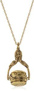"""1928 Jewelry Vintage-Inspired Collection Gold-Tone Rotating Locket Trio Long Necklace  Product ViewSee larger image and other views (with zoom)Product ScreenshotsCheck All OffersAdd to Wish ListCustomer ReviewsFeaturesDomesticChain measures: 30""""L x 1/8""""WGold-ToneIf cleaning is http://ecx.images-amazon.com/images/I/31cEb873dEL._SL300_.jpg http://electmejewellery.com/jewelry/necklaces/lockets/1928-jewelry-vintageinspired-collection-goldtone-rotating-locket-trio-long-necklace-co"""