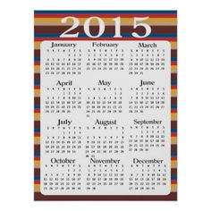 Yearly Calendar 2015 Printable 11