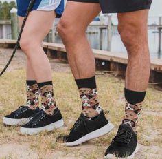 Puppers Crew Socks for Men and Women by MeMoi Miu Miu Ballet Flats, Crew Socks, Dog Lovers, Gifts, Shoes, Women, Fashion, Moda, Presents