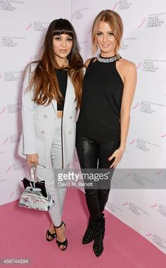 Zara Martin and Millie Mackintosh attend the launch of The Estee Lauder Companies' UK Breast Cancer Awareness (BCA) Campaign 2014 'Hear Our Stories. Share Yours' at Kensington Palace on October 6, 2014 in London, England