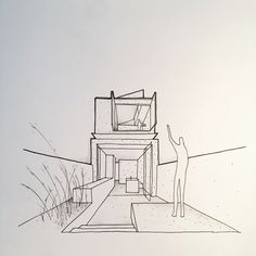 Concept sketch options for an extension to a terrace in Annandale