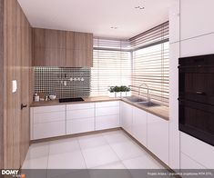 Kitchen Room Design, Hidden Kitchen, Antara, Küchen Design, Home Fashion, Sweet Home, Kitchen Cabinets, Modern, Curtains