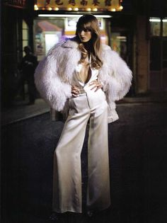Starry Mood in Vogue Italia #fauxfur #whitewinter