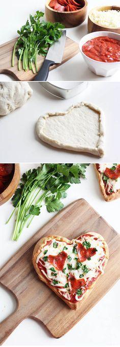 Homemade Heart Pizza   Valentine's Day Dinner Ideas