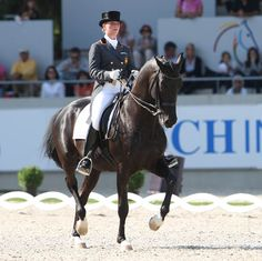 Spain's Morgan Barbançon and Painted Black.  Morgan is 19 years old and will be on the Spanish team for the London Olympics.  © Ken Braddick/dressage-news.com