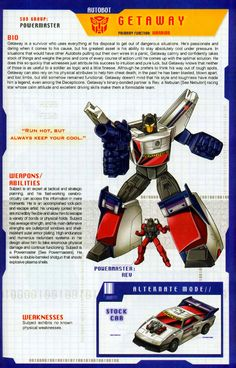 Transformer of the Day: Getaway