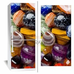 Αυτοκόλλητο Ψυγείου Χρωματιστές πέτρες