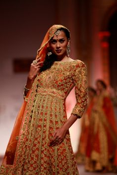 Seen at Aamby Valley India Bridal Fashion Week - Day 5- Model walking for Preeti S Kapoor