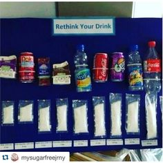 There is so much #sugar in the things people #drink every day!  #rethinkyourdrink #diabetes #health #nutrition #beaware