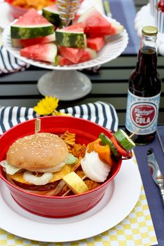 Backyard Grilling Party! Serve up burgers!