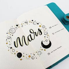 Plan With Ady - Plan with me : le mois de mars dans mon bullet journal March Bullet Journal, Bullet Journal Cover Page, Bullet Journal Inspo, Bullet Journal Layout, My Journal, Journal Covers, Journal Pages, Bullet Journals, February Journal