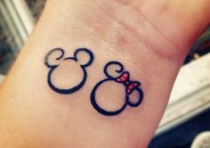 Mickey & Minnie Mouse Disney Tattoo <3
