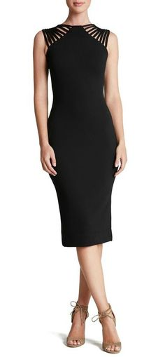 Statement-making straps embolden this classy body-con dress. The back is even prettier than the front!! Check it out @Nordstrom.