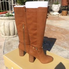 New Michael Kors Leather Boots Brand new brown leather extremely light weight and super comfortable with a not too high heel. Retail for more than double. This is my firm price. Let me know if you need anymore details. Happy Poshing!! MICHAEL Michael Kors Shoes
