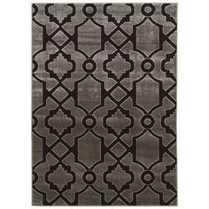 Andover Mills Alica Dark Gray/Black Area Rug & Reviews | Wayfair