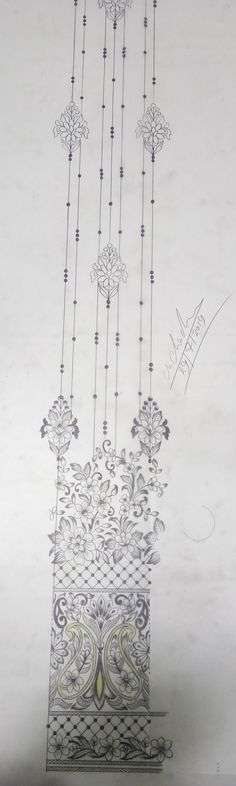 Hand Embroidery Patterns Free, Hand Embroidery Projects, Embroidery Neck Designs, Hand Embroidery Videos, Hand Embroidery Flowers, Couture Embroidery, Embroidery Motifs, Creative Embroidery, Basic Mehndi Designs