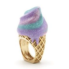To know more about Sretsis CREAM CONE RING, visit Sumally, a social network that gathers together all the wanted things in the world! Kawaii Jewelry, Cute Jewelry, Jewelry Box, Jewelry Accessories, Weird Jewelry, Jewellery, Cream Rings, Cute Rings, Fashion Mode