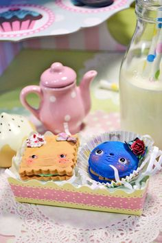 Funny Cookies in a box for Alice in Wonderland Theme...Etsy