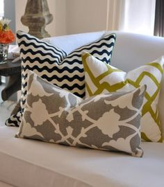 mixed matched pillows