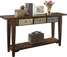 Altra Sage Console Table with Drawers, Multi-Colored Rustic - ZonHunt