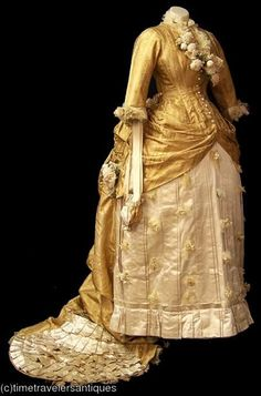 1880's reception dress.