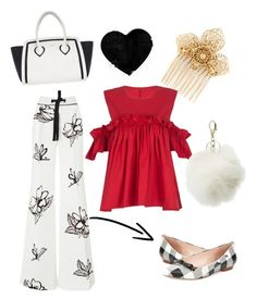 """""""Brunch anyone?"""" by bakersammie ❤ liked on Polyvore featuring Miriam Haskell, Kate Spade, Roland Mouret, Furla and Charlotte Russe"""