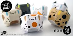 Sometimes you need to make a paper cat. A tiny, fat, round one to keep you company on your desk. If this is one of those times, get free printable templates from Toxic Paper Factory. Or if cats aren't your thing, try making cassette tapes or robots.