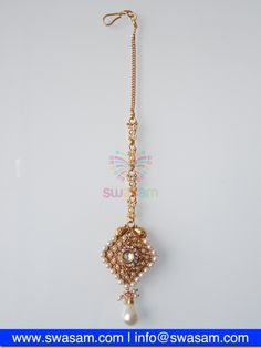 Indian Jewelry Store | Swasam.com: Tikka with Perls and White Stones - Tikka - Jewelry Shop to Buy The Best Indian Jewelry  http://www.swasam.com/jewelry/tikka/tikka-with-perls-and-white-stones-1461.html?___SID=U  #indianjewelry #indian #jewelry #tikka