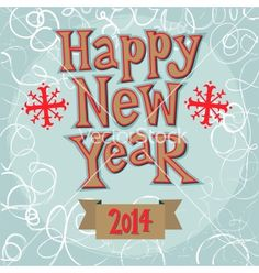 New year greeting card concept vector - by Chuhail on VectorStock®