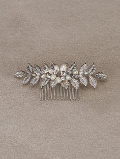 Pronovias > ALISO - Bridal comb in aged silver and gemstones