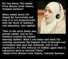I am not Muslim, and I do not wear hijab; but I appreciate its value, and I could not agree with Madam Karman more. Best Islamic Quotes, Muslim Quotes, Islamic Inspirational Quotes, Hijab Quotes, Religious Quotes, Arabic Quotes, Inspiring Quotes, Islam Muslim, Islam Quran