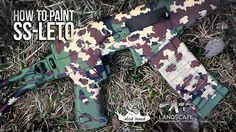 How to paint Partizan (SS leto) camo. You can buy Landscape Camouflage Stencils here: https://grey-shop.ru/Accessories-Other/Camo-Stencils http://www.russian-thunder.com/#!landscape-stencils/cpxv