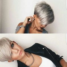 Stylish Short Pixie Haircut with Side Swept Bangs - Undercut for Women Short Hair