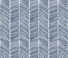 Freeform Arrows Large in indigo #fabric by domesticate on Spoonflower - definitely another roman shade option (current frontrunner)