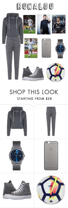 """Playing football with Ronaldo!!"" by rumaisa-hadia ❤ liked on Polyvore featuring Burberry, Emporio Armani, Native Union, Converse, NIKE, men's fashion and menswear"